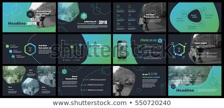 dark vector abstract circles infographic template stock photo © orson