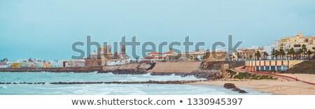 plaj · panoramik · görmek · İspanya · güneş - stok fotoğraf © amok