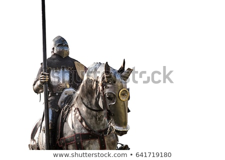Knight holding sword on golden background. Stock photo © Nejron