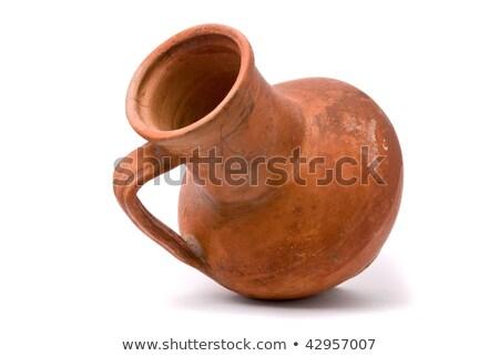 isolated clay vase stock photo © taviphoto