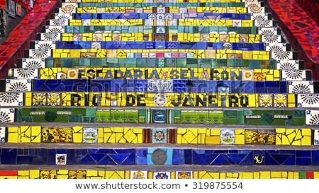 Rio de Janeiro lépcsőfeljáró híres Stock fotó © BrazilPhoto