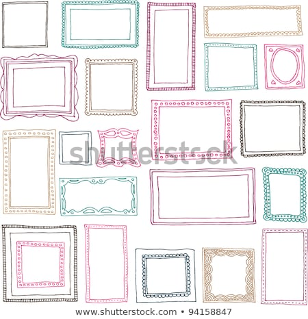 retro woman with picture frame stock photo © nejron