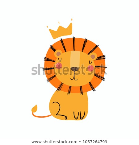 cute lion stock photo © lenm