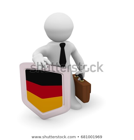 small 3d man holding a German Flag Stock photo © Istanbul2009
