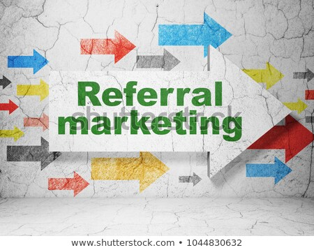 referral marketing vintage design concept stock photo © tashatuvango