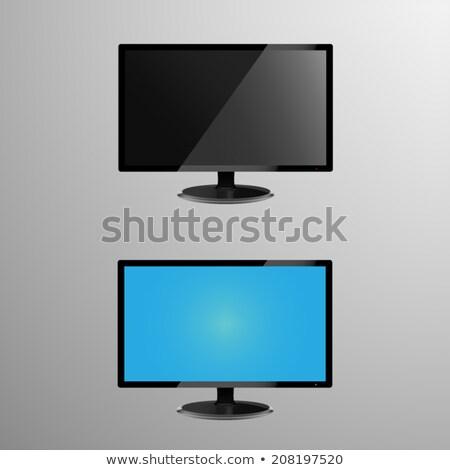 LCD · supervisar · plantilla · eps · metal · plata - foto stock © mischoko