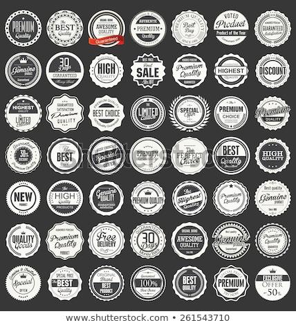 Szett klasszikus stílus címkék prémium minőség Stock fotó © Mischoko