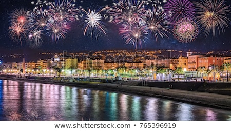 Nice ночь Франция пляж дома Сток-фото © kasto