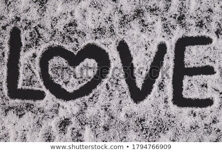 Stock photo: Black stone with the inscription Love