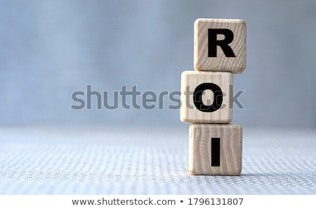 Roi возврат успех маркетинга складе финансовых Сток-фото © flipfine