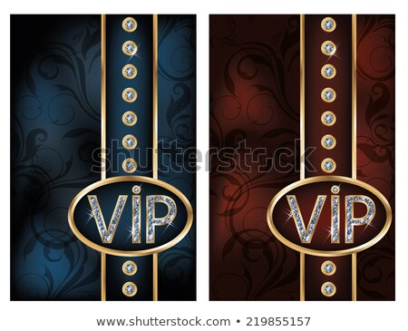 два Diamond vip карт вечеринка моде Сток-фото © carodi