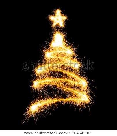 árvore de natal sparkler preto festa abstrato inverno Foto stock © vlad_star