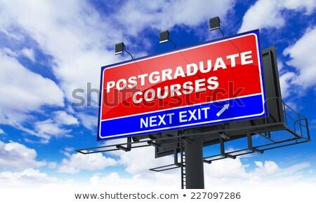 postgraduate courses on red billboard stock photo © tashatuvango
