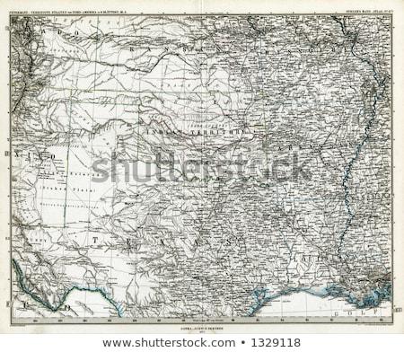 Centraal Kansas vintage kaart 1920 selectieve aandacht Stockfoto © PixelsAway