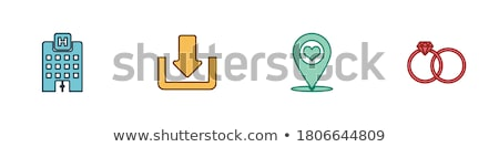 Map pointer with jewel icon Stock photo © aliaksandra