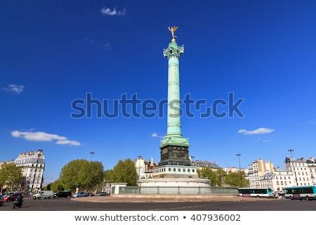 july column at place de la bastille in paris france stock photo © andreykr