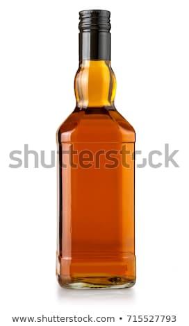 бутылку виски стилизованный иллюстрация очки Сток-фото © tracer