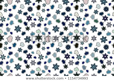 vector seamless pattern with white snowflakes on watercolor back stock photo © alexmakarova