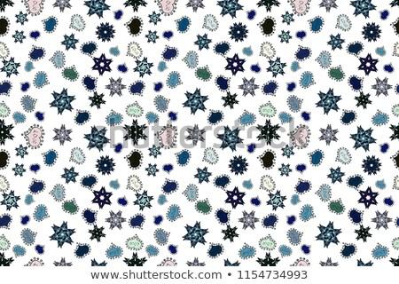 Vector witte sneeuwvlokken aquarel Maakt een reservekopie Stockfoto © alexmakarova