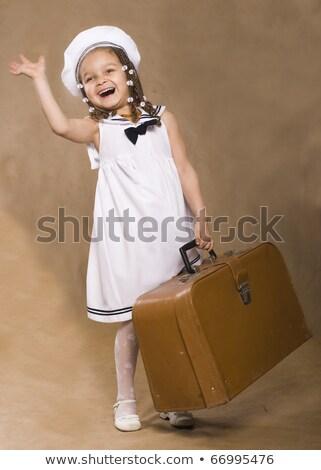 Minúsculo vintage maleta silla pelota Foto stock © mahoks