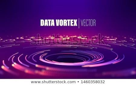 Bright concentric color lines on black Stock photo © ptichka