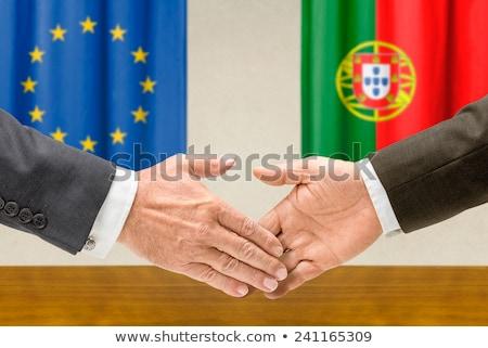 歐洲聯盟 葡萄牙 握手 業務 手 成功 商業照片 © Zerbor