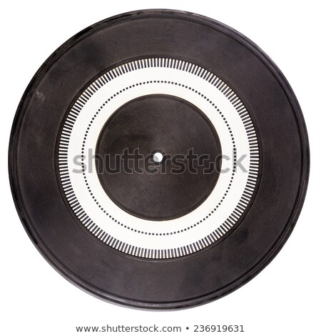 vintage turntable platter with rubber mat stock photo © taigi
