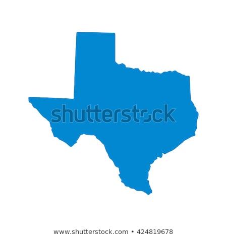 Harita Teksas kırmızı vektör yalıtılmış Stok fotoğraf © rbiedermann
