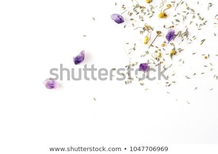Ametista branco violeta variedade quartzo usado Foto stock © PeterHermesFurian