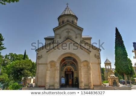 Templom oltár belső most centrum virágok Stock fotó © smartin69