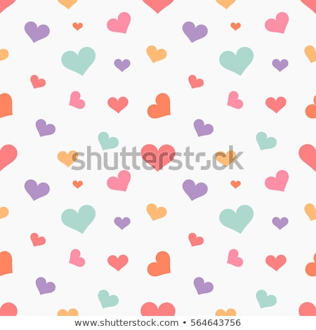 Mavi kalp dizayn mutlu soyut Stok fotoğraf © slunicko