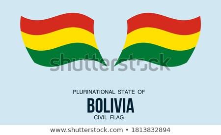 gomb · Bolívia · térkép · tájkép · zászló · sziluett - stock fotó © mayboro1964