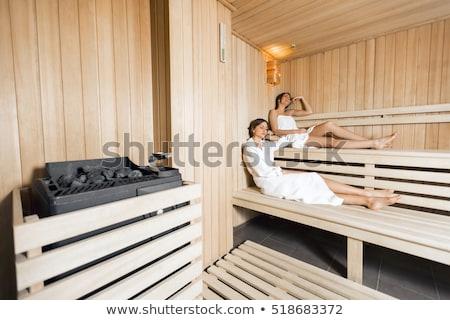 Girl in the Finland bath Stock photo © pressmaster