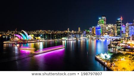 Stock fotó: Sydney · éjszakai · jelenet · fény · nyom · város · utca