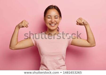женщину · сильный · руки · красивой · брюнетка · браслет - Сток-фото © lubavnel
