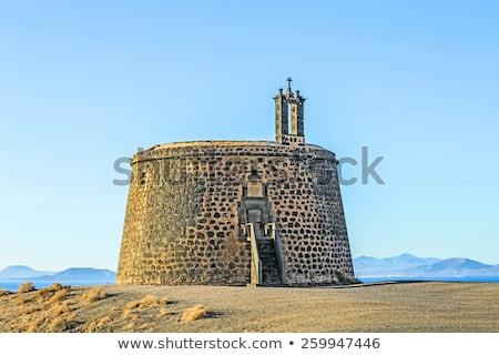 Сток-фото: небольшой · замок · утес · Канарские · острова · Испания · природы