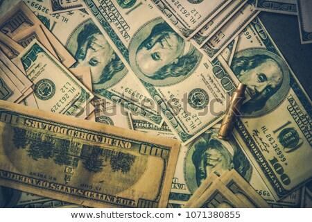 Lövedék dollár bankjegyek részlet bűnözés korrupció Stock fotó © artush