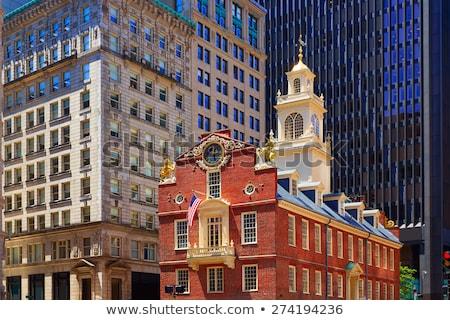 Бостон Массачусетс центра Cityscape США небе Сток-фото © lunamarina