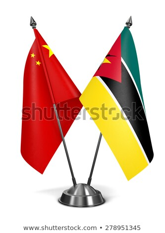 China and Mozambique - Miniature Flags. Stock photo © tashatuvango