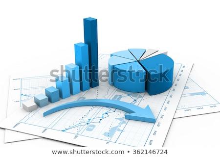 Gazdaságos grafikon papír dolgozik számológép adat Stock fotó © saransk