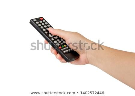 Kéz tart távirányító fehér Stock fotó © wavebreak_media