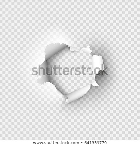 Paper Burst Hole Stock photo © Lightsource