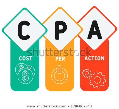 cpa   white word on blue puzzles stock photo © tashatuvango