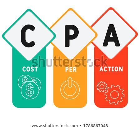 CPA - White Word on Blue Puzzles. Stock photo © tashatuvango