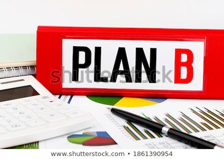 B-terv ír mappa iroda szerszámok asztal Stock fotó © fuzzbones0