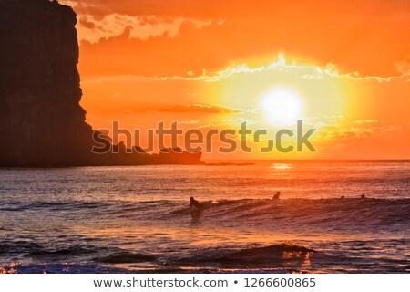 Sunrise nord plages riche rouge jaune Photo stock © lovleah