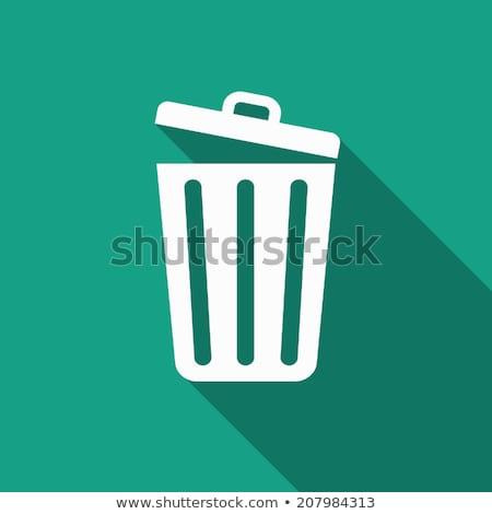 Konteyner düğme çöp kutusu ikon dizayn uzun Stok fotoğraf © WaD