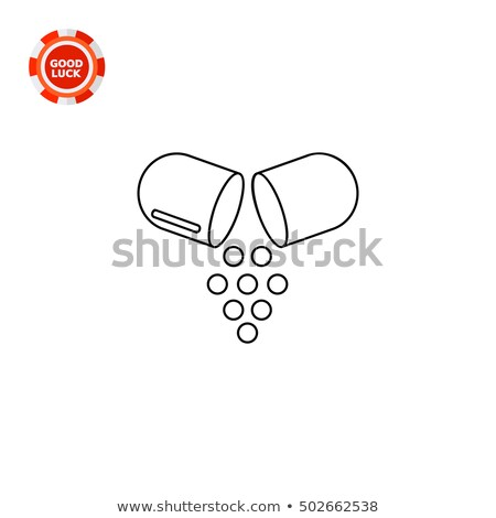 Píldora cápsula vector negro icono elemento Foto stock © blaskorizov