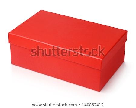 красный обувь окна белый обуви настоящее Сток-фото © dezign56