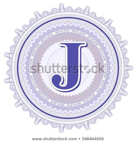 Abstract guilloche Logo, letter-J Stock photo © netkov1